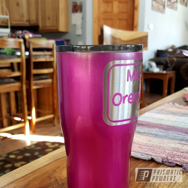Powder Coating: Clear Vision PPS-2974,Tumbler,HOGG,Illusion Pink PMB-10046,20oz Tumbler,Custom Tumbler Cup