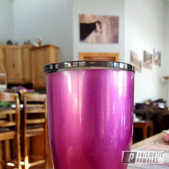 Powder Coating: Clear Vision PPS-2974,Tumbler,HOGG,Illusion Pink PMB-10046,20oz Tumbler,Custom Tumbler Cup
