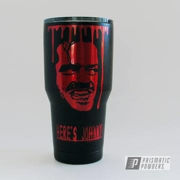 Powder Coated Black And Red Ozark Trail Tumbler Cup