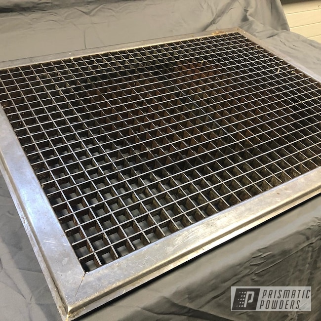 Powder Coating: Old House,Evo Grey PMB-5969,Floor Vent,Gas Heater