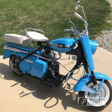 Powder Coated Blue 1962 Cushman Cast Iron Super Eagle