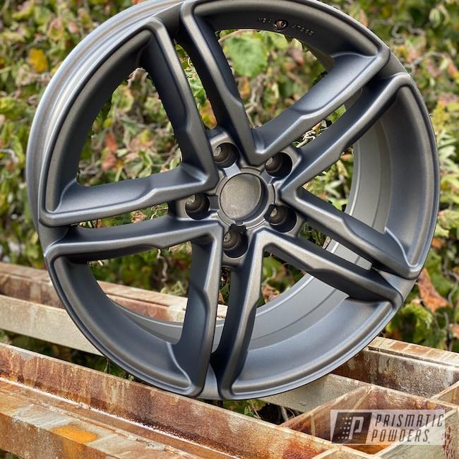 "Powder Coating: Wheels,Automotive,18"",Aluminium Wheels,Speedway Grey PMB-4911,Audi,18"" Wheels,Casper Clear PPS-4005"