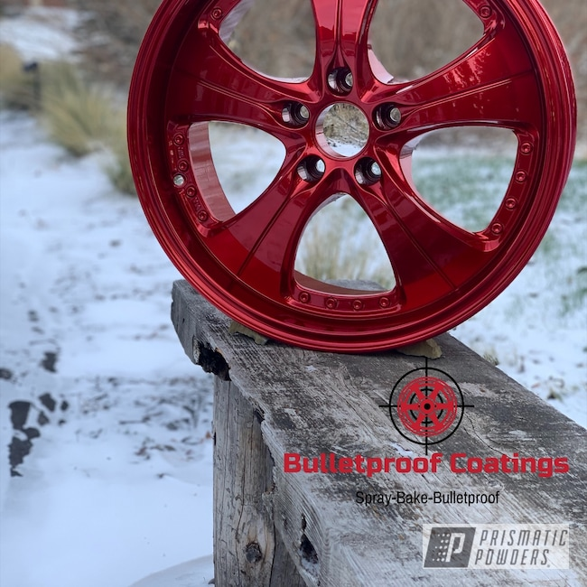 Powder Coating: Wheels,Automotive,Alloy Wheels,SUPER CHROME USS-4482,Golf R,LOLLYPOP RED UPS-1506,17s,Volkswagen,lollypopred