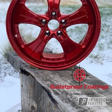 Powder Coated Red Volkswagen Wheels