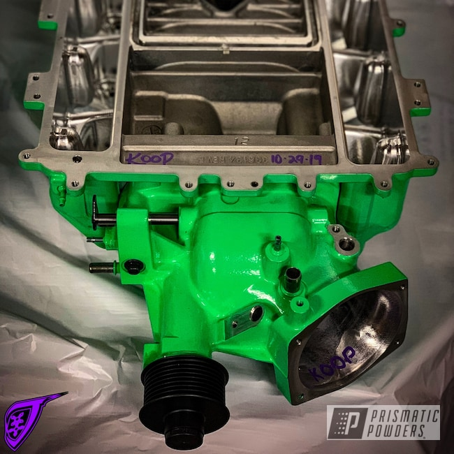 Powder Coating: Automotive,Neon Green PSS-1221,Supercharger