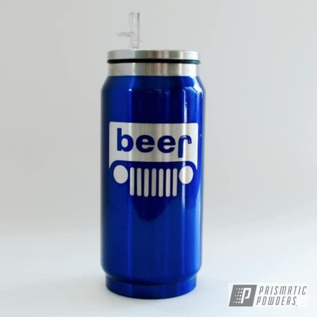 Powder Coating: 12 oz. Soda Can,HOGG,12 oz. Hogg Can,Intense Blue PPB-4474,Custom Tumbler