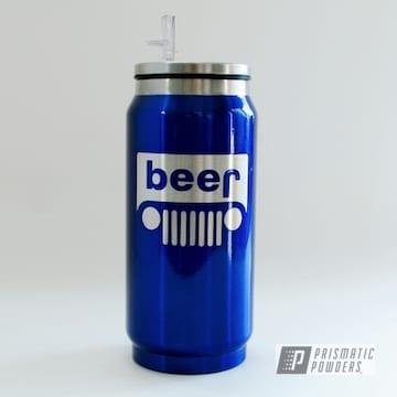 Blue Custom Tumbler Soda Can
