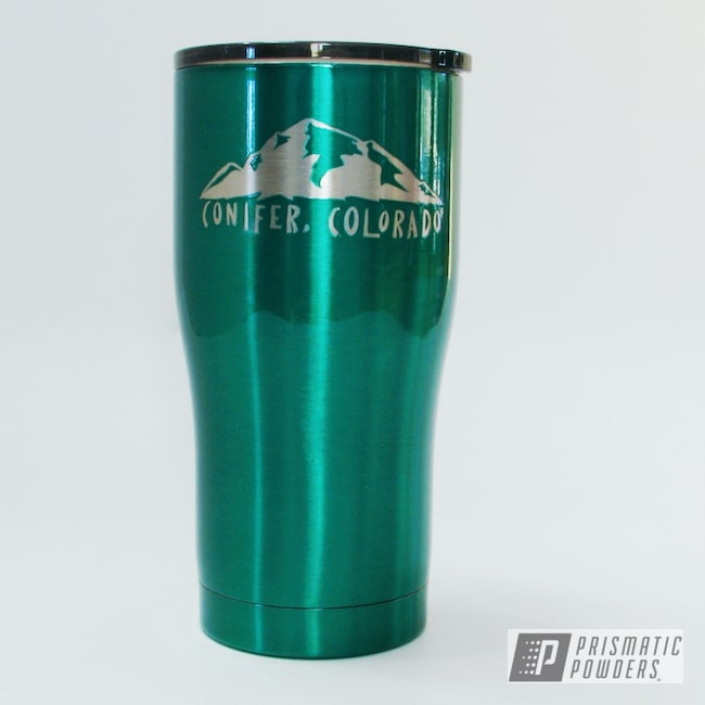 Powder Coating: HOGG,MOUNTAIN GREEN PPB-2470,20oz Tumbler,Custom Tumbler Cup,Custom Tumbler