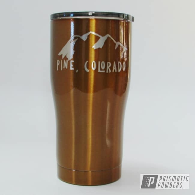 Powder Coating: Transparent Copper PPS-5162,HOGG,20oz Tumbler,Custom Tumbler Cup,Custom Tumbler