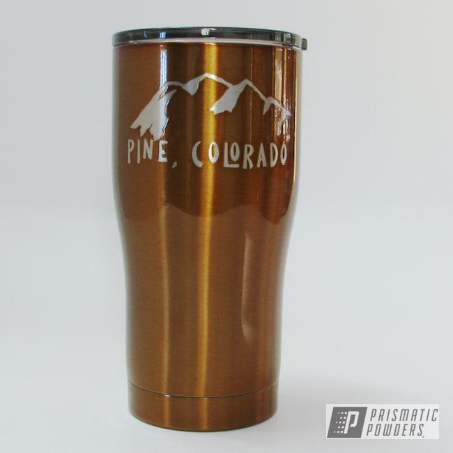 Powder Coating: Transparent Copper PPS-5162,HOGG,20oz Tumbler,Custom Tumbler Cup,Custom Tumbler