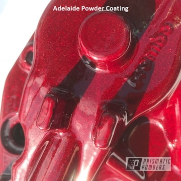 Powder Coated Cherry Red Brembo Brake Caliper