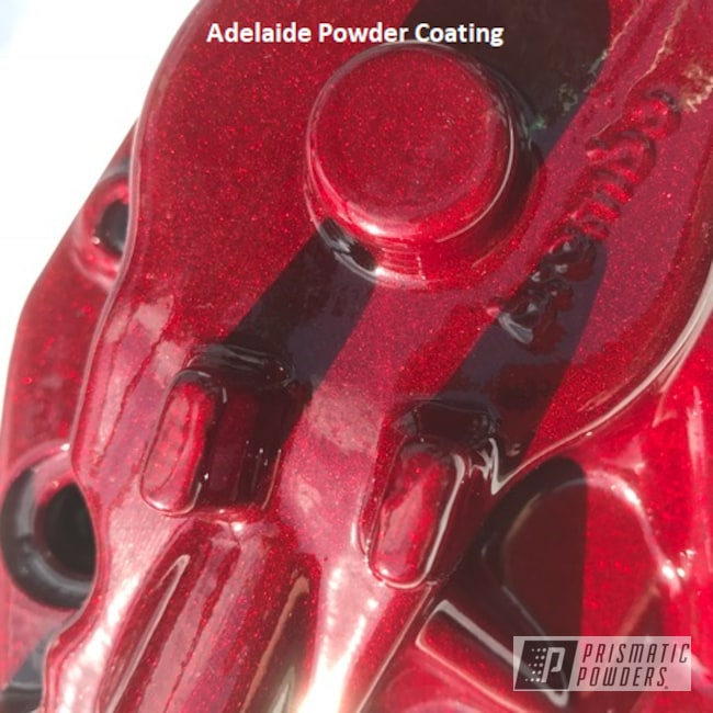 Powder Coating: Adelaide Powder Coating,Clear Vision PPS-2974,Brembo,2 Stage Application,Illusion Cherry PMB-6905,Brembo Brake Calipers,Brembo Caliper