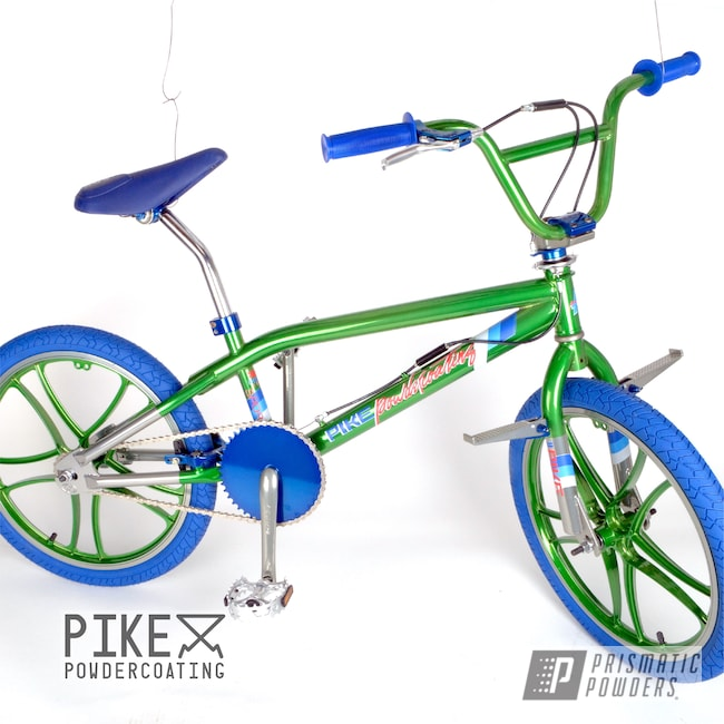Powder Coating: Thompson Green PPB-5929,Bicycles,Clear Vision PPS-2974,SUPER CHROME USS-4482,Peeka Blue PPS-4351,Haro,Bicycle,BMX,Freestyler