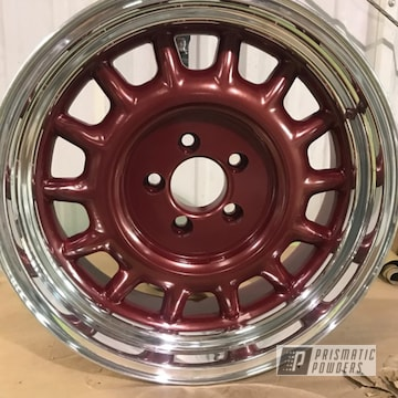 Red 15 Inch Rim Centers
