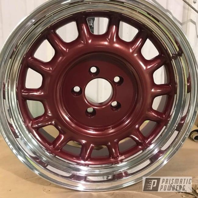 "Powder Coating: Wheels,Automotive,Toreador Red PMB-2753,15"" Wheel"