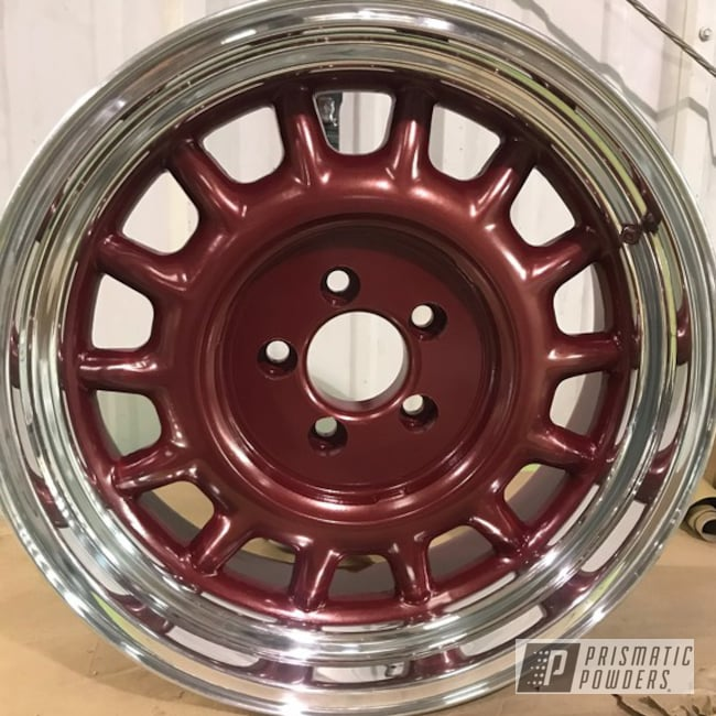 "Powder Coating: Wheels,Automotive,Toreador Red PMB-2753,15"" Wheel"