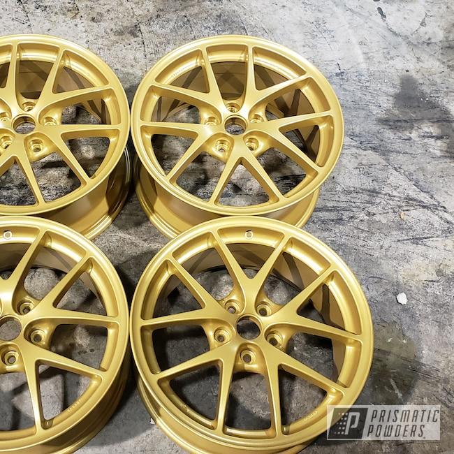 "Powder Coating: Wheels,Goldtastic PMB-6625,Automotive,STI,18"",18"" Wheel,BBS"