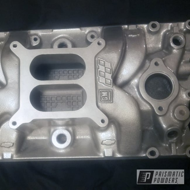 Powder Coating: Automotive,Clear Vision PPS-2974,Engine Intake,Alloy Silver PMS-4983