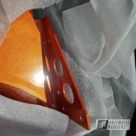 Powder Coating: Custom Disc Golf Cart,Disc Golf,Metallic Powder Coating,Orange,Outdoor,Cart,Illusion Orange PMS-4620,Adams Gold PPB-6003