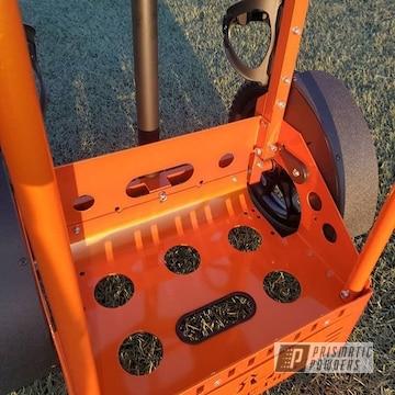 Orange Disc Golf Cart