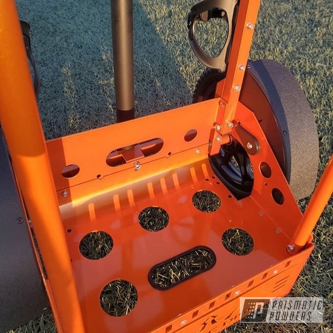 Orange Disc Golf Cart