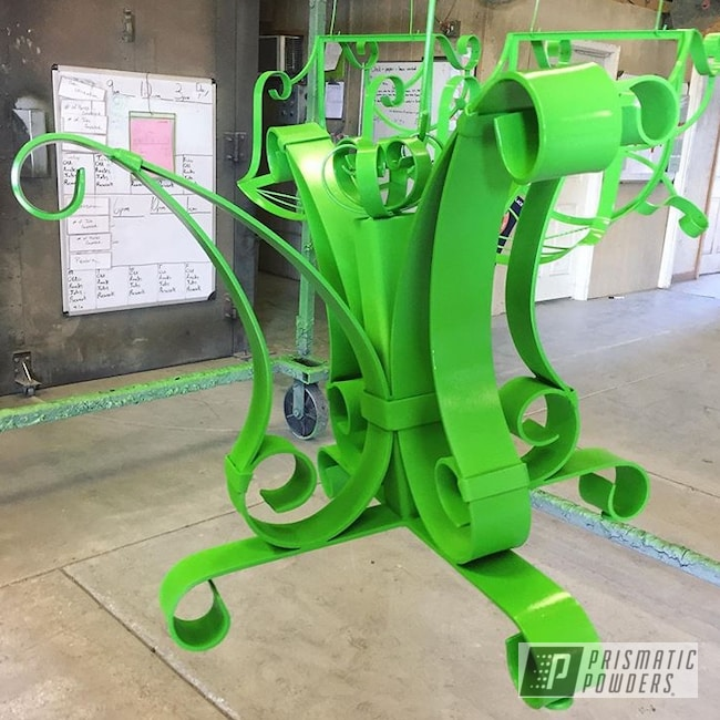 Powder Coating: Custom Furniture,RAL 6018 Yellow Green,Green,Vintage,Outdoor Furniture,Decorative Furniture,Patio Funiture,Table Base,Furniture