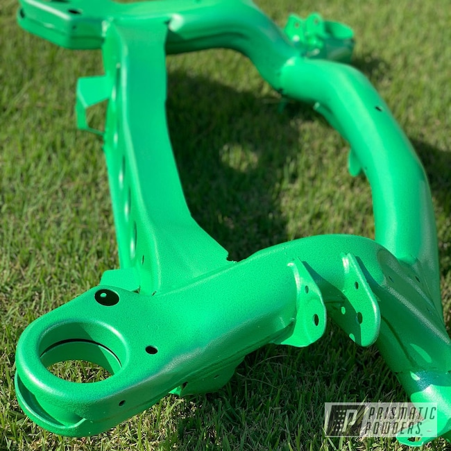 Powder Coating: Automotive,Green Glow/Silver PVB-8126,BMW,subframe