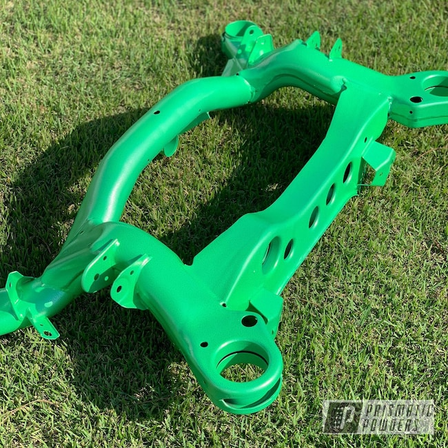 Powder Coating: Automotive,Green Glow/Silver PVB-8126,BMW,subframe