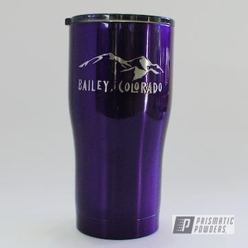 Powder Coated Purple Insulated Hogg Tumbler