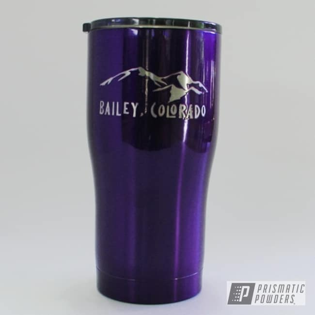 Powder Coating: Modern Curve,HOGG,20oz Tumbler,Majestic Purple PPB-2144,Custom Tumbler Cup