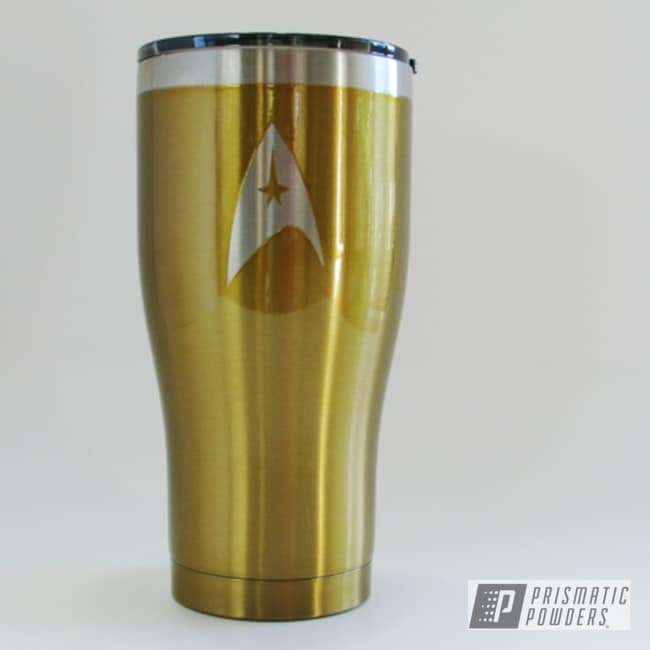 Powder Coating: HOGG,Insulated Tumbler,Brassy Gold PPS-6530,20oz Tumbler,Custom Tumbler Cup