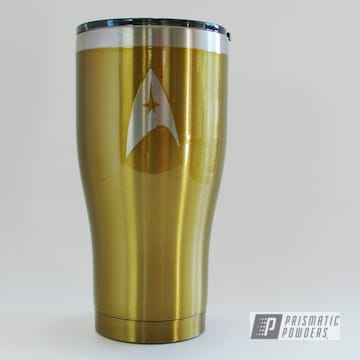 Gold Star Trek Inspired Hogg Tumbler Cup
