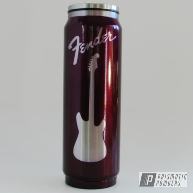 Powder Coating: Jr Rockstar Sparkle PPB-6624,Soda Can Tumbler,Stainless Steel,HOGG,Insulated Tumbler,Custom Tumbler Cup,17oz Tumbler,Illusion Malbec PMB-6906