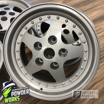 Powder Coated Silver Set Of Custom Rims
