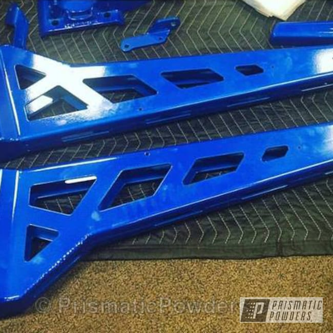 Powder Coating: Truck Parts,Illusion Blue-Berg PMB-6910,Automotive,Clear Vision PPS-2974