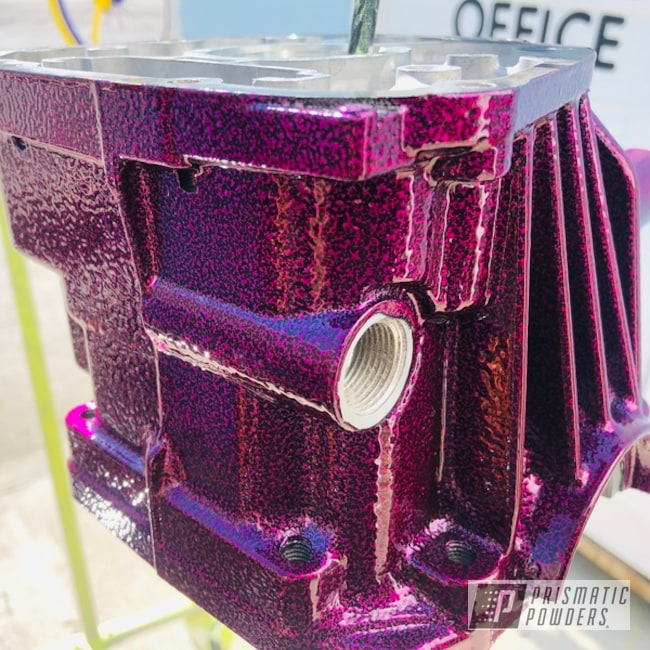 Powder Coated Differential In A Berry Color