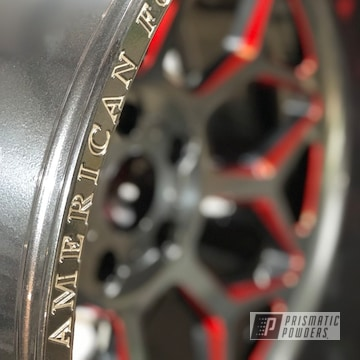 Powder Coated Red And Black 20 Inch American Force Wheels
