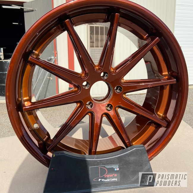 "Powder Coating: Wheels,Automotive,Transparent Copper PPS-5162,20"",20"" Wheels"