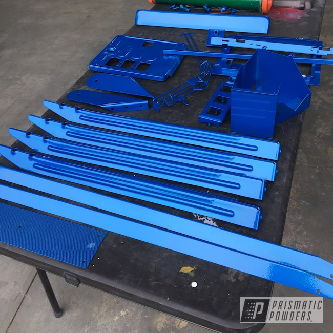 Powder Coating: Pinball Machine,Clear Vision PPS-2974,Illusion Blueberry PMB-6908