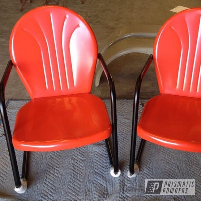Powder Coating: Harley Davidson,Patio Furniture,GLOSS BLACK USS-2603,Outdoor Furniture,Patio Chair,Harley,Harley Orange PMB-2829,Furniture