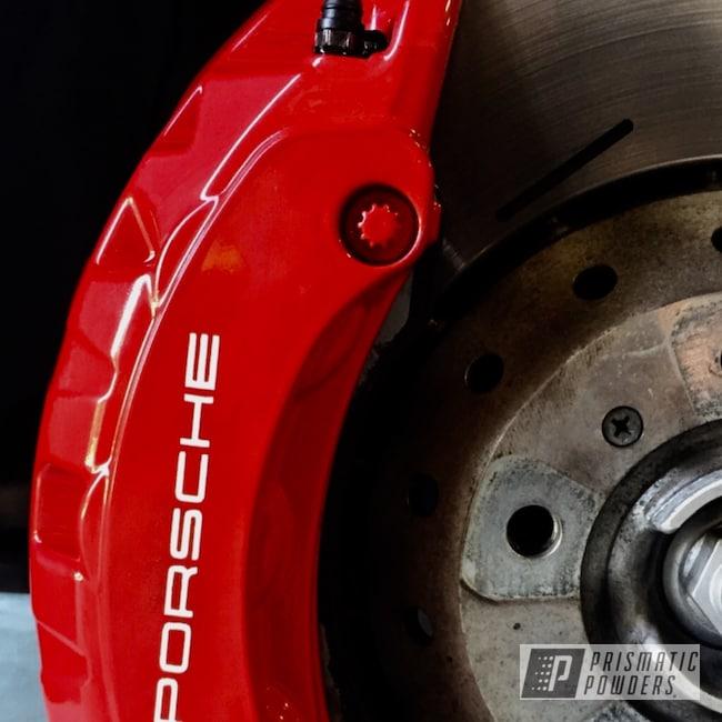 Powder Coating: Automotive,Brake Calipers,Porsche,Astatic Red PSS-1738,Custom Brakes