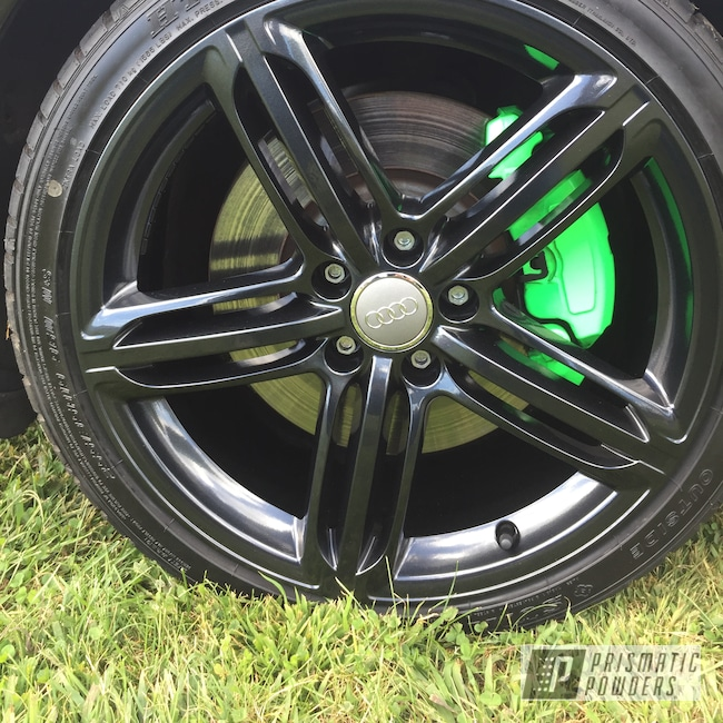 Powder Coating: Wheels,Automotive,Brakes,Lazer Diamond PMB-4156,Neon Green PSS-1221