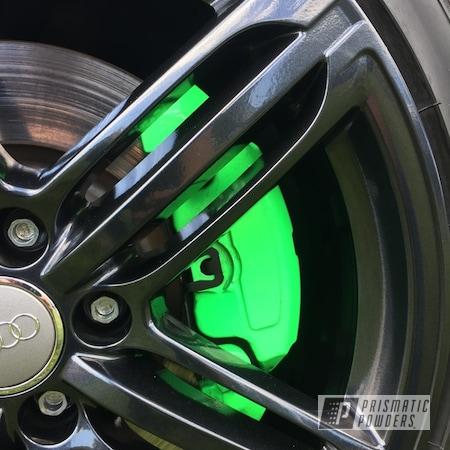 Powder Coating: Wheels,Automotive,Brakes,Lazer Diamond PMB-4156,Neon Green PSS-1221