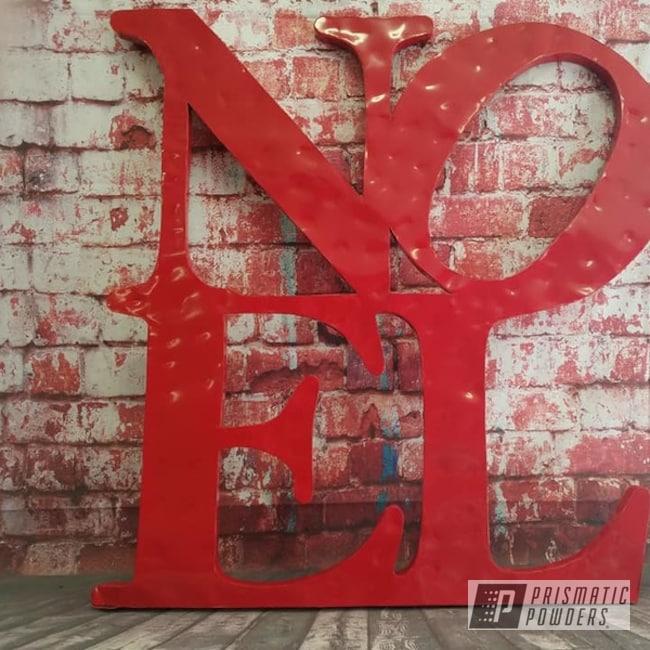 Powder Coating: Metal Art,Outdoor Decor,Art,Christmas,RAL 3002 Carmine Red,Metal Signs