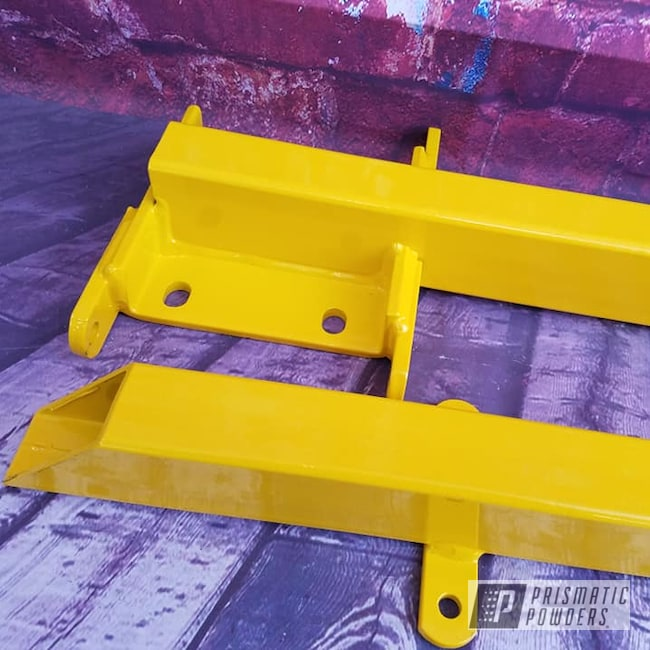 Powder Coating: Automotive,Traction Bars,RAL 1003 Signal Yellow,Automotive Parts