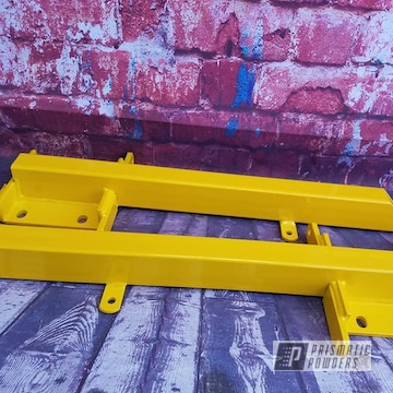 Powder Coated Yellow Automotive Traction Bars