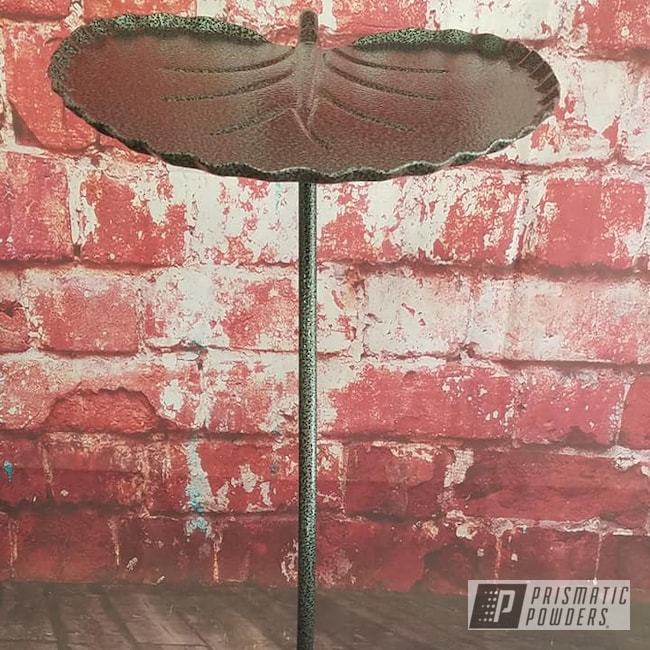 Powder Coating: End Table,Clear Vision PPS-2974,Custom Furniture,Metal Table,Lilly Pad,Silver Artery PVS-3014,Miscellaneous,Furniture,Leaf Table