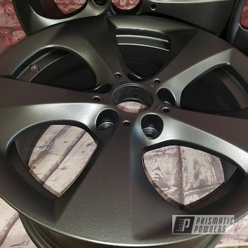 Powder Coated Black 18 Inch Aluminum Wheels