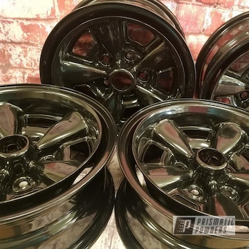 Black 15 Inch Steel Rims