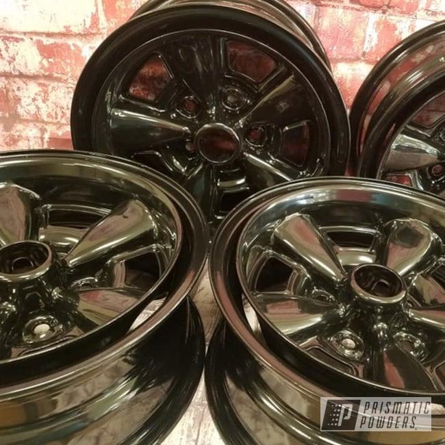 "Powder Coating: 15"" Steel Wheels,Ink Black PSS-0106,Automotive Rims,Steel Rims"